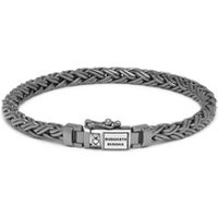 Buddha to Buddha Katja XS Black Rhodium armband van zilver