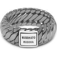 Buddha to Buddha Ben XS Black Rhodium ring van zilver