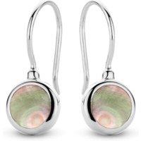 Casa Jewelry Pom oorhangers van zilver met parel