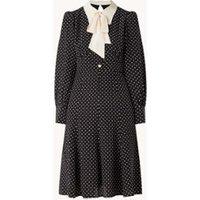 L-K-Bennett Moore mini blousejurk van zijde met stippenprint