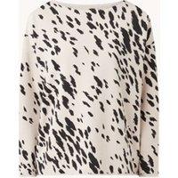 JUVIA Sweater met print en boothals