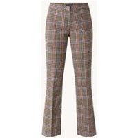 River Woods Mid waist bootcut fit pantalon met pied-de-poule dessin