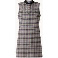 River Woods Mini jurk met opgestikte zakken en ruitdessin