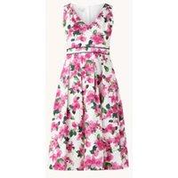 Hobbs Olivia midi jurk met plooidetail en bloemenprint