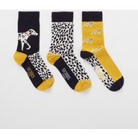 Hobbs Dalmation sokken met print in 3-pack giftbox