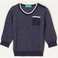 Benetton Fijngebreide trui in wolblend