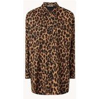 Vanilia Oversized blouse met panterprint