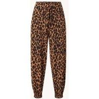 Vanilia High waist tapered fit broek met panterprint