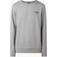 Denham Sweater in mêlee met logo