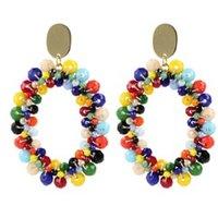 LOTT- gioielli Kiki Glassberry Peyote oorstekers met kralen