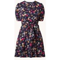 Ralph Lauren Mini jurk met bloemenprint en strikceintuur