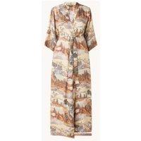Essenza Julia Carice kimono met print