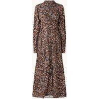 Selected Femme Ronja maxi blousejurk met print