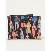 Wouf Girls XL clutch van canvas met print