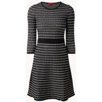HUGO Sabylla A-lijn mini jurk met ingebreid patroon