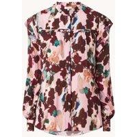Reiss Phoenix blouse met bloemenprint en ruches