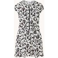 Reiss Marie mini jurk met grafische print en trekkoord