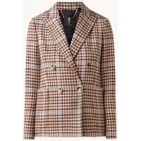 Ted Baker Double-breasted blazer met ruitdessin