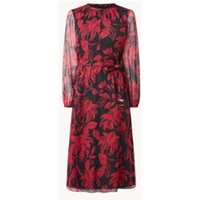 Ted Baker Rococo midi jurk met bloemenprint en strikceintuur