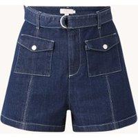 Ted Baker Shortan high waist straight fit korte spijkerbroek met ceintuur
