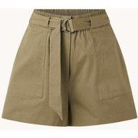 Ted Baker Ronniie high waist wide fit korte broek met ceintuur