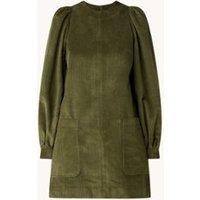 Ted Baker Xavia A-lijn mini jurk van corduroy met pofmouw