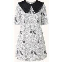 Ted Baker Oscala mini jurk met oversized kraag en dierenprint