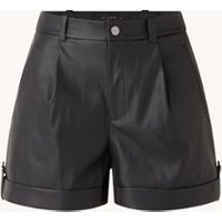 Ted Baker Pawa high waist straight fit korte broek van imitatieleer