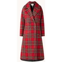 Ted Baker Tartan mantel van wol met ruitdessin