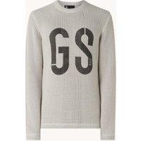 G-Star RAW Grofgebreide trui met logoprint