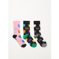 Happy Socks Cat sokken in 3-pack giftbox