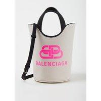 Balenciaga Wave XS handtas van canvas met logo