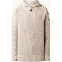 Calvin Klein Grofgebreide hoodie met logo