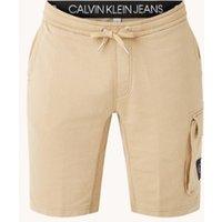 Calvin Klein Straight fit korte joggingbroek met drawstring en logo