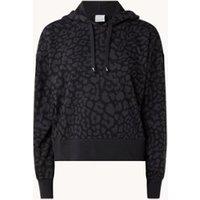 Nike Cropped hoodie met Dri-FIT en panterprint