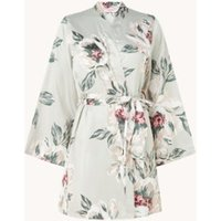 Hunkemöller Kimono van satijn met bloemenprint
