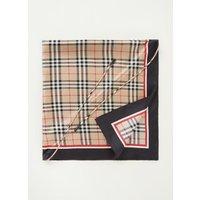 BURBERRY Sjaal van zijde met ruitdessin en trekkoord 90 x 90 cm