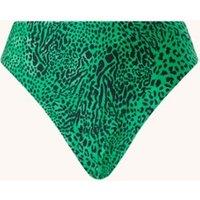 Seafolly Wild Ones high waisted bikinislip met panterprint