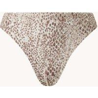 Seafolly Serpentine high waisted bikinislip met print