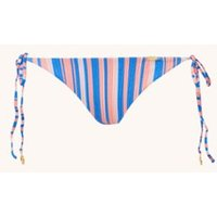 Luli Fama Play Time brazilian bikinislip met streepprint met lurex