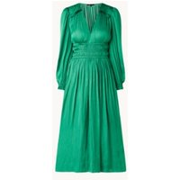 Maje Riannette midi jurk van satijn met plooidetail