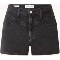 Calvin Klein High waist skinny fit korte spijkerbroek met stretch