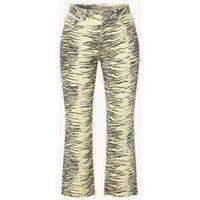 Ganni High waist bootcut fit cropped jeans van biologisch katoen