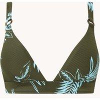 Baku Honduras voorgevormde triangel bikinitop met print