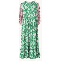 Smith & Soul Midi jurk met bloemenprint en plooidetail