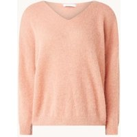 by-bar Liv pullover in wolblend met V-hals