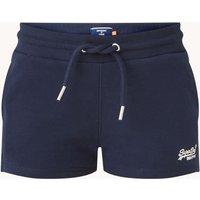 Superdry Mid waist straight fit korte broek met drawstring en steekzakken