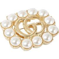 Gucci Double G Marmont Pearls broche met imitatieparel