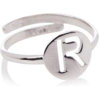 LOTT- gioielli Verstelbare ring Initial R van zilver