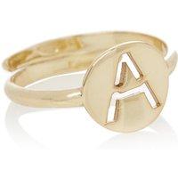 LOTT- gioielli Verstelbare ring Initial A verguld